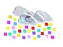Chmura Podaniowe Ikony Obraz Stock