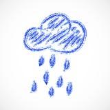 Chmura, pogodowa ikona. Wektorowy illustration/EPS 10 Obrazy Royalty Free