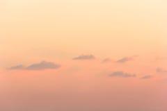 Chmura przy zmierzchem Zdjęcie Stock