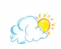 chmura słońce Obraz Royalty Free