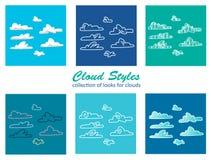 Chmura style Obraz Stock