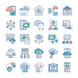Chmura Us?uguje ikony ilustracja wektor