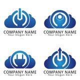 Chmura władzy pojęcia logo Obraz Stock