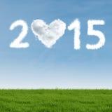 Chmura w kształtnym liczba 2015 Zdjęcia Royalty Free
