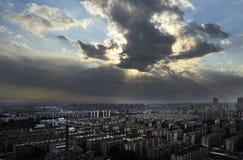 Chmura w mieście rodzinnym Fotografia Royalty Free