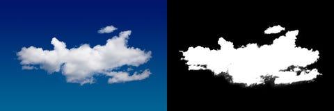 Chmura w niebie Halftone ścinku maska dla delikatnie rzeźbić out chmurę Fotografia Stock