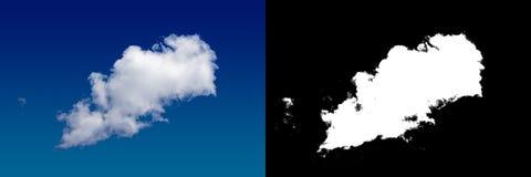 Chmura w niebie Halftone ścinku maska dla delikatnie rzeźbić out chmurę Obrazy Stock