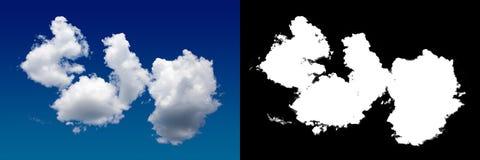Chmura w niebie Halftone ścinku maska dla delikatnie rzeźbić out chmurę Obraz Royalty Free