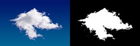Chmura w niebie Halftone ścinku maska Fotografia Stock