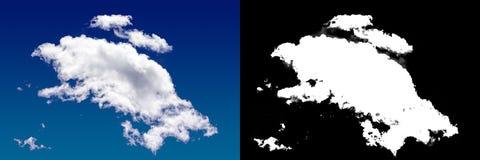 Chmura w niebie Halftone ścinku maska Zdjęcia Stock