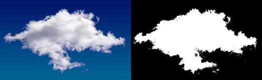 Chmura w niebie Halftone ścinku maska Zdjęcie Stock