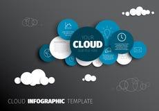 Chmura - Wektorowy Infographic szablon Zdjęcie Stock