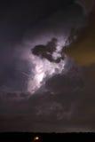 Chmura wietrzyć błyskawicę Obrazy Stock