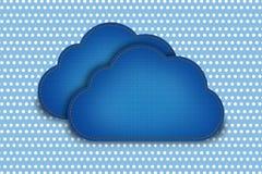 Chmura z deseniową polki kropką Fotografia Royalty Free