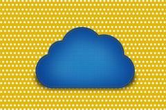 Chmura z deseniową polki kropką Zdjęcie Royalty Free