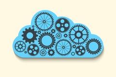 Chmura z przekładniami Obraz Stock