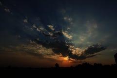 Chmura z słońcem obrazy royalty free
