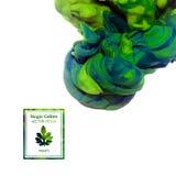 Chmura zielony świeży atrament odizolowywający na bielu, farby abstrakcja c royalty ilustracja