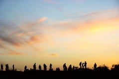 chmura zmierzchów ludzie Fotografia Royalty Free