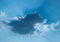 chmurami jest sun Obrazy Royalty Free