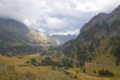 Chmurna Benasque dolina Zdjęcia Stock