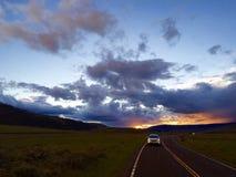 Chmurna dolina podczas zmierzchu Zdjęcia Royalty Free