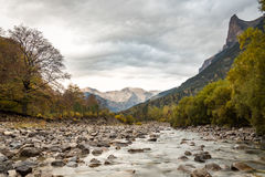 Chmurna dolina w jesieni Zdjęcie Royalty Free