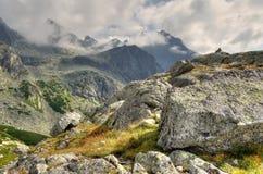 chmurna krajobrazowa góra Obraz Stock
