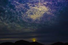 chmurna noc Zdjęcie Stock