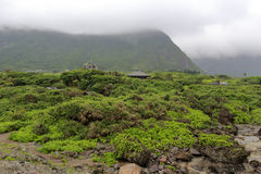 Chmurna zielona góra Obraz Stock