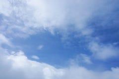 chmurnego widok nieba Zdjęcia Royalty Free