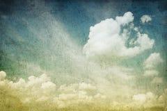 chmurnego wizerunku retro niebo Fotografia Royalty Free