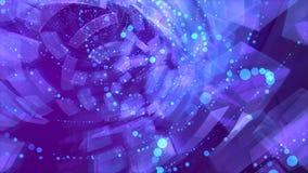 Chmurni kamienie wewnątrz przez błękitnych spiral fotografia stock