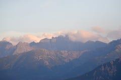 Chmurni tatras Zdjęcie Royalty Free