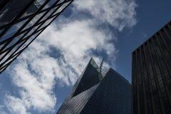 Chmurniejący niebo Manhattan Zdjęcie Stock