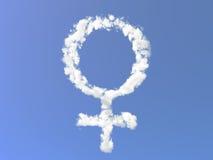 chmurnieje żeńskiego symbol royalty ilustracja