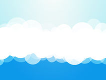 Chmurnieje błękitnego tło ilustracja wektor