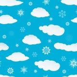 chmurnieje bezszwowych płatek śniegu Fotografia Royalty Free