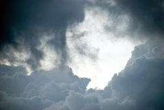 chmurnieje burzę Zdjęcie Stock