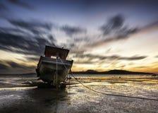 chmurnieje ciemnego seascape nieba zmierzch Zdjęcie Stock