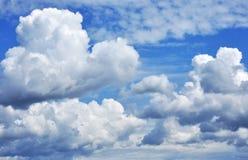 chmurnieje cumulus Fotografia Royalty Free