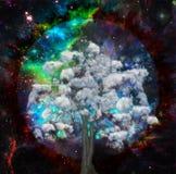 Chmurnieje drzewa ilustracja wektor