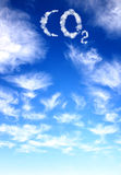 chmurnieje dwutlenku węgla symbol Obraz Royalty Free