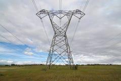 chmurnieje elektryczność pilon obraz royalty free