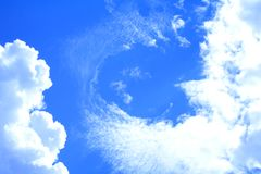 chmurnieje foto bezkształtnego nieba biel Obrazy Stock