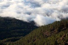 chmurnieje góry Zdjęcia Stock