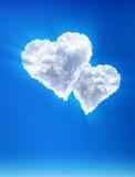 Chmurnieje â jako serca. Nadziemska miłość Fotografia Royalty Free