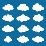 Chmurnieje kolekcję. Chmura kształtów paczka. Wektor. Zdjęcia Royalty Free