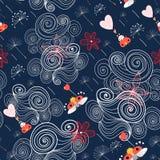 chmurnieje ladybirds wzory Obraz Stock