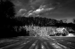chmurnieje las Zdjęcie Royalty Free